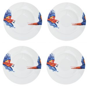 pasta borden met papegaai catchii