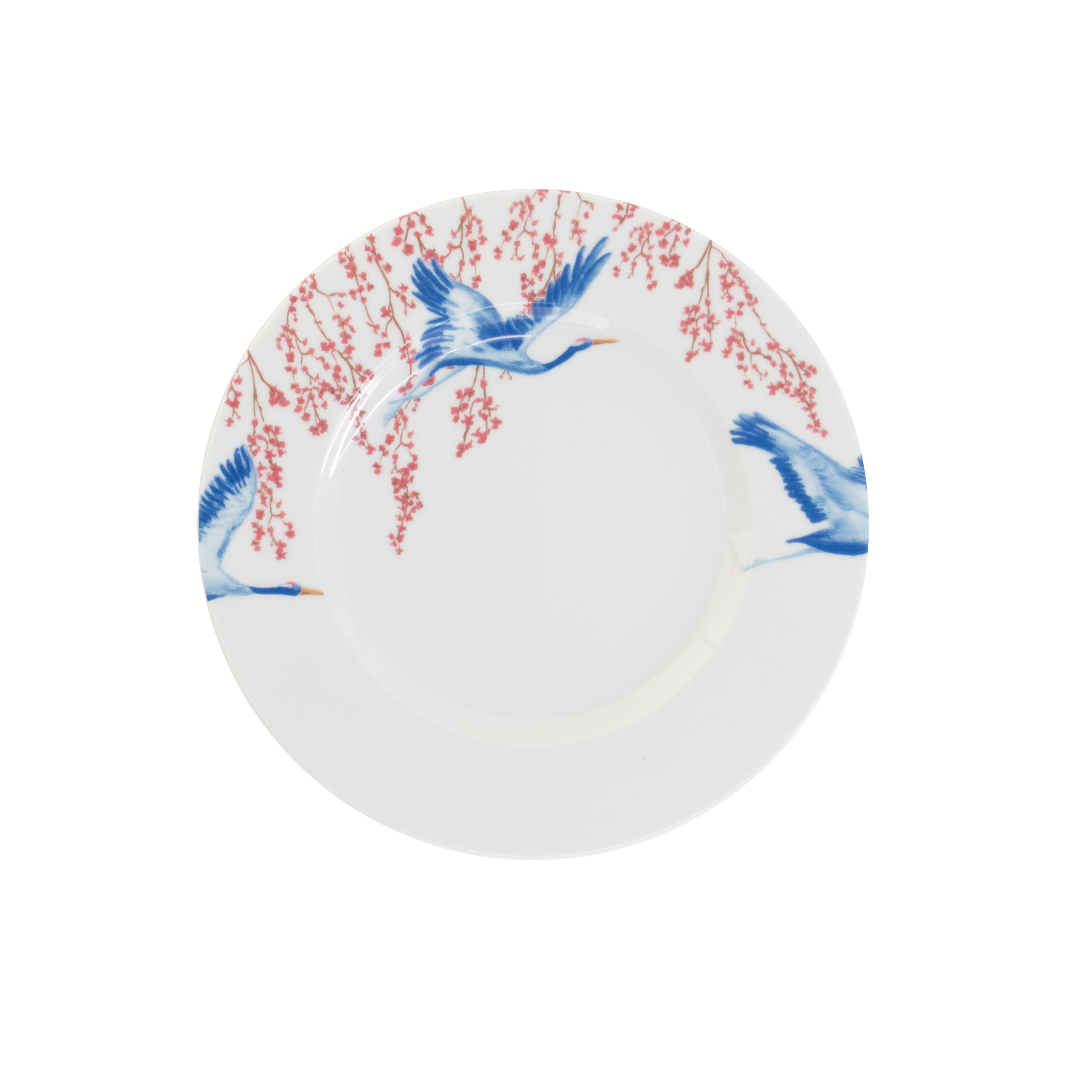 Catchii ontbijtbord met bloesem en kraanvogels