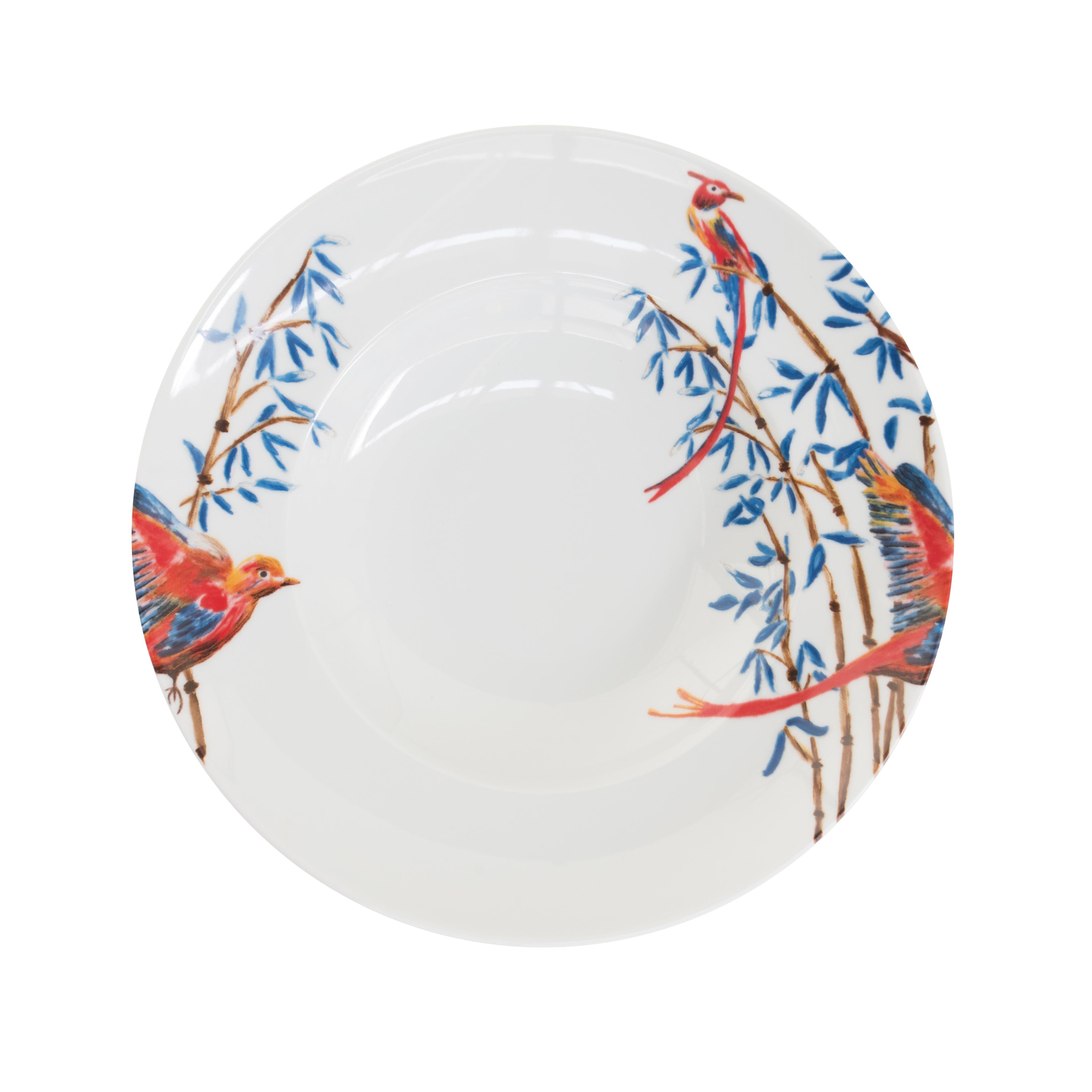 pastabord met vogels en bamboe van Catchii