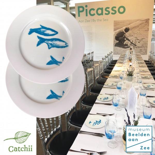 catchii bord tentoonstelling picasso aan zee