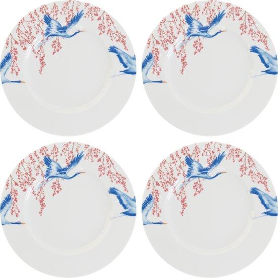 Ontbijt bord Catchii met kraanvogels en bloesem