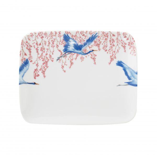 Catchii serveerschaal dinerbord kraanvogels bloesem cherry blossom & lucky cranes