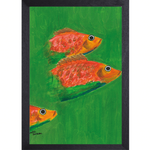 Catchii poster groen Three Fish