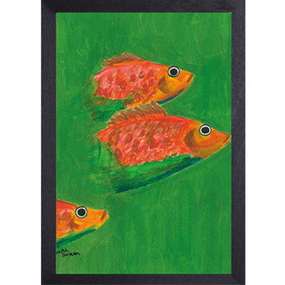 Catchii poster groen Three Fish