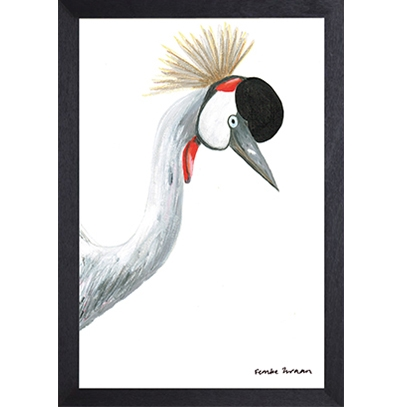 Catchii poster wit crowned crane