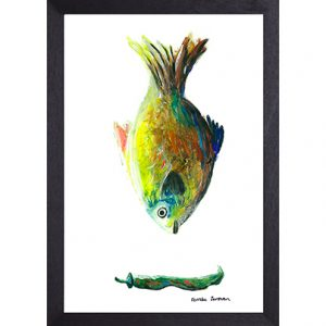 Catchii poster wit fish colored