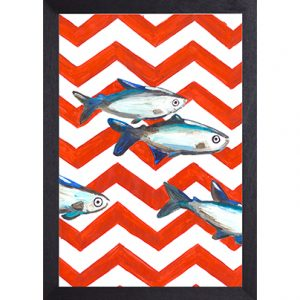 Catchii poster rood-wit Fish Zigzag