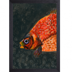 Catchii poster zwart Orange Fish