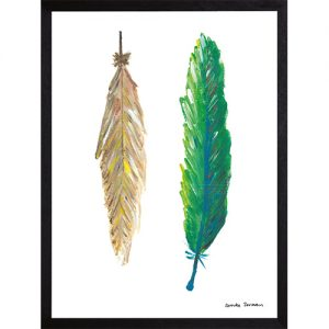 Catchii poster beige groen feathers