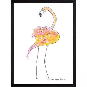 Catchii poster wit fantastic flamingo