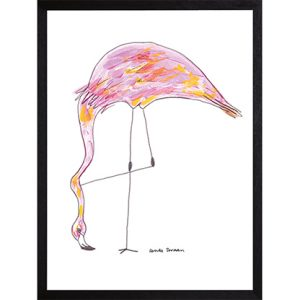 Catchii poster fantastic feeding flamingo