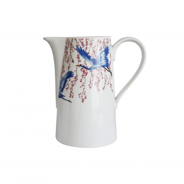Schenkkan kraanvogels van de Cherry Blossom & Luckey Cranes collectie van Catchii