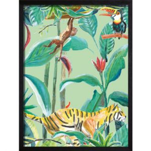 Catchii poster groen Panther Jungle Stories