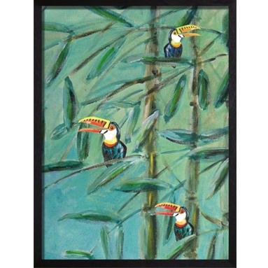 poster birds groen catchii