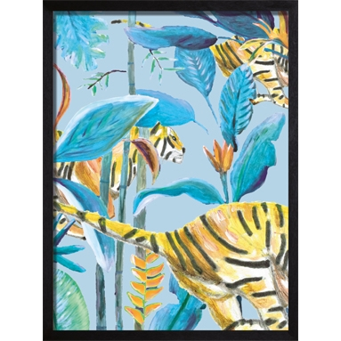 poster panther blauw
