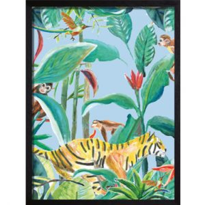 Catchii poster blauw jungle stories tiger