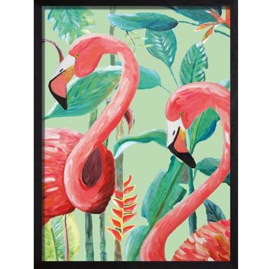 Catchii poster roze Flamingo Jungle Stories