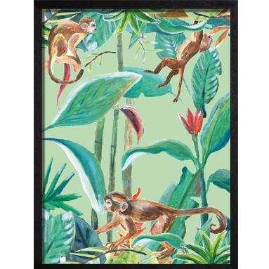 poster groen monkey