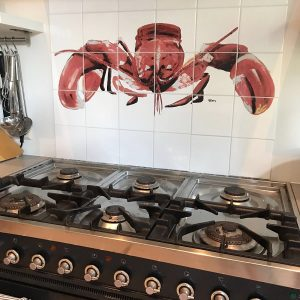 Tile tableau in the style of kitchen foodblogger Rens Kroes
