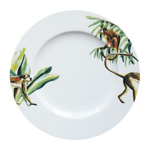 Catchii dinerbord met aapjes en jungle blaadjes