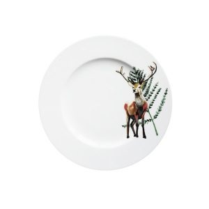 Ontbijtbord met herten blaadjes Festive seasons