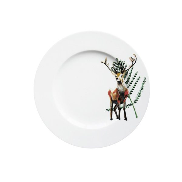 Ontbijtbord met hert en blaadje Festive seasons