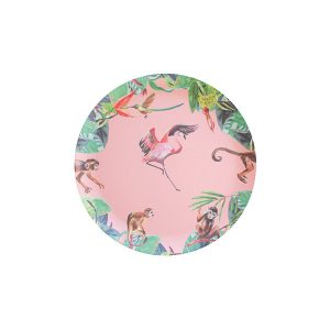 catchii kids bamboebord flamingo roze bamboe bamboo fiber kinderservies