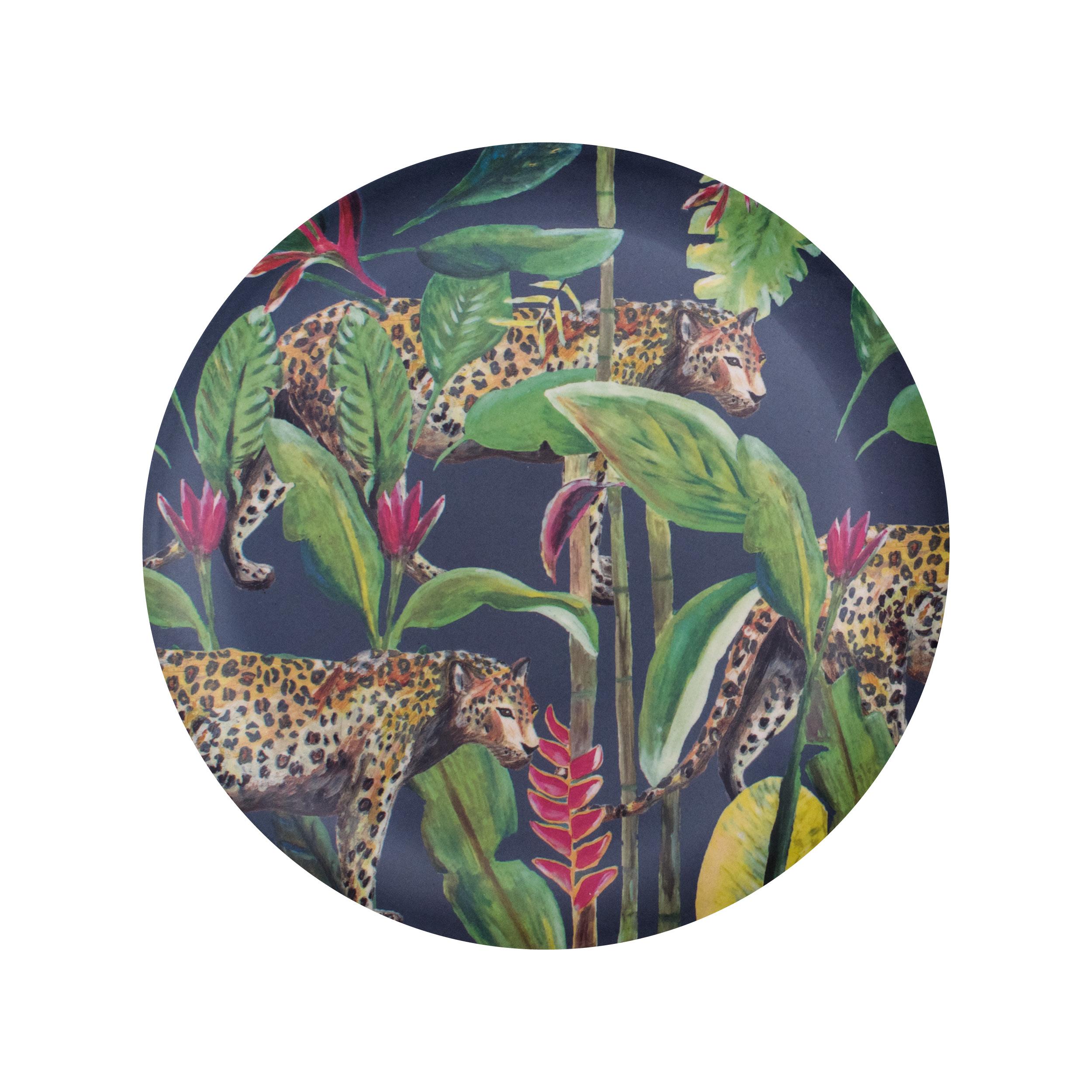bamboe dinerbord panter