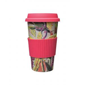 bamboe koffie to go beker flamingo
