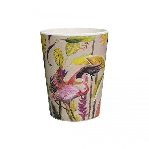 Catchii Bamboe beker Jungle stories flamingo