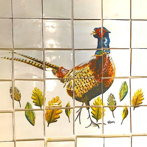 catchii tegeltableau fazant tiletableau pheasant