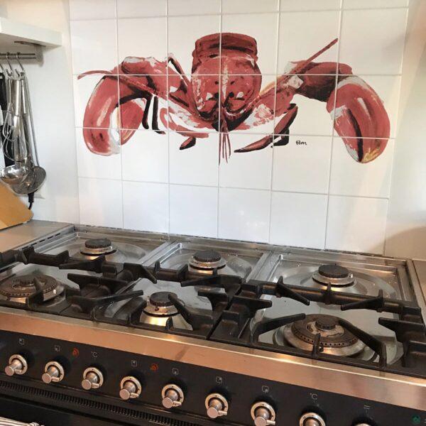 tegeltableau kreeft keuken