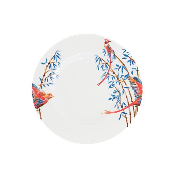 Catchii ontbijtbord met bamboe en vogeltjes