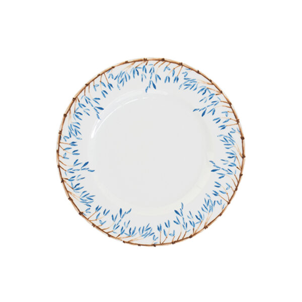 Catchii Ontbijtbord met blauwe bamboe en blaadjes