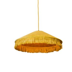 catchii lamp velvet okergeel