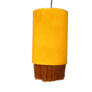 Catchii hanglmapje velvet mosterd geel