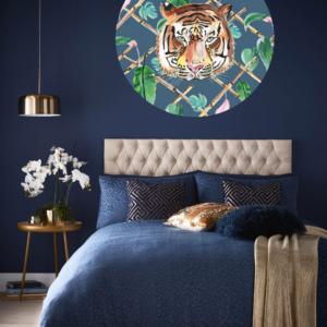 Behangcirkel tijger slaapkamer catchii homeware 140 cm doorsnede