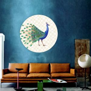 pauw behangcirkel blauw interieur
