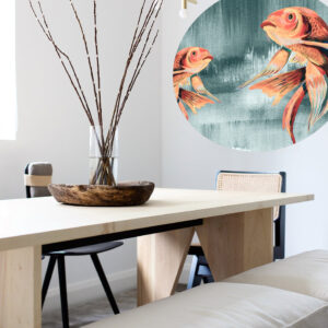 behangcirkel catchii koi fishes