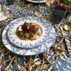 koraal bord spicy tuna tonijn